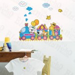 Animal Train - Wall Decals Stickers Appliques Home Décor