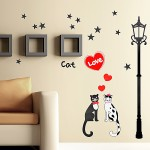Cat Love - Wall Decals Stickers Appliques Home Décor
