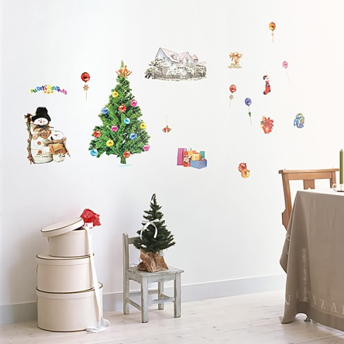 Christmas-1 - Wall Decals Stickers Appliques Home Décor