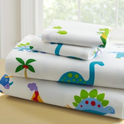 Olive Kids Dinosaur Land-Full Cotton Full Sheet Sets