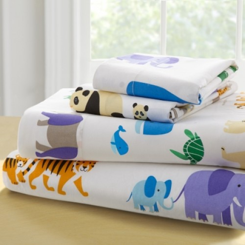Olive Kids Endangered Animals-Twin Cotton Twin Sheet Sets