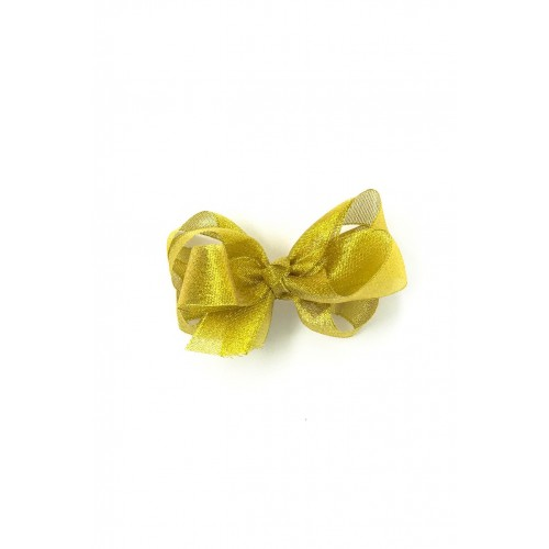 4 Inch Gold Shimmer Bow