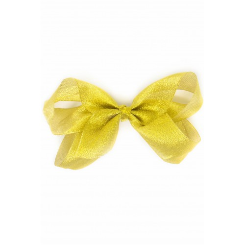 7 Inch Gold Shimmer Bow