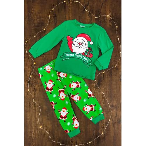 """Green """"Merry Christmas"""" Pajamas"""